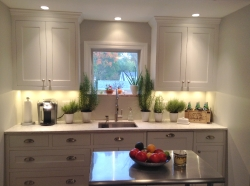 small white painted kitchen