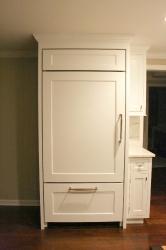 white refrigerator cabinet